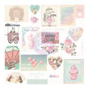 Высечки 2 Ephemera Shapes, Tags, Words with Foil Accents коллекция Dulce от Prima Marketing
