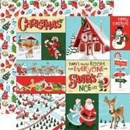 Лист бумаги Multi Journaling Cards коллекция Santa's Workshop от Carta Bella