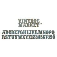 Нож для вырубки Vintage Market Alphabet Decorative Strip Die By Tim Holtz от Sizzix