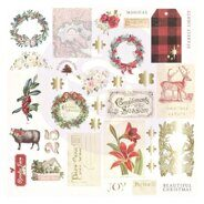 Высечки 2 Ephemera with Foil Accents коллекция Christmas In The Country от Prima Marketing