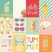 Лист бумаги Journaling Card Elements 3 x 4 коллекция Summer Days от Simple Stories