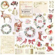 Высечки Ephemera with Foil Accents коллекция Christmas In The Country от Prima Marketing