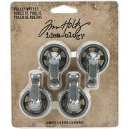 Набор металлических колес Idea-Ology Metal Mini Pulley Wheels от Tim Holtz Advantus