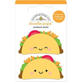 "3D Stickers ""Taco-Bout Fun""."