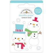 "3D Stickers ""Snow Buddies"""