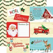 Лист бумаги 4X6 Journaling Cards коллекция Santa's Workshop от Carta Bella