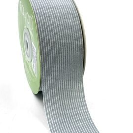 Лента Striped Washed Linen Ribbon LIGHT BLUE от May Arts
