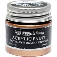Акриловая краска Alchemy Acrylic Paint цвет Metallique Brass Hardware от Prima Marketing