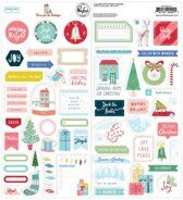Набор наклеек Cardstock Stickers коллекция  Home For The Holidays от Pinkfresh Studio